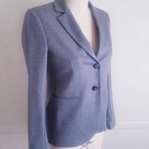 Theory Jackets & Coats - Theory | Fitted Gray Blazer with Buttons